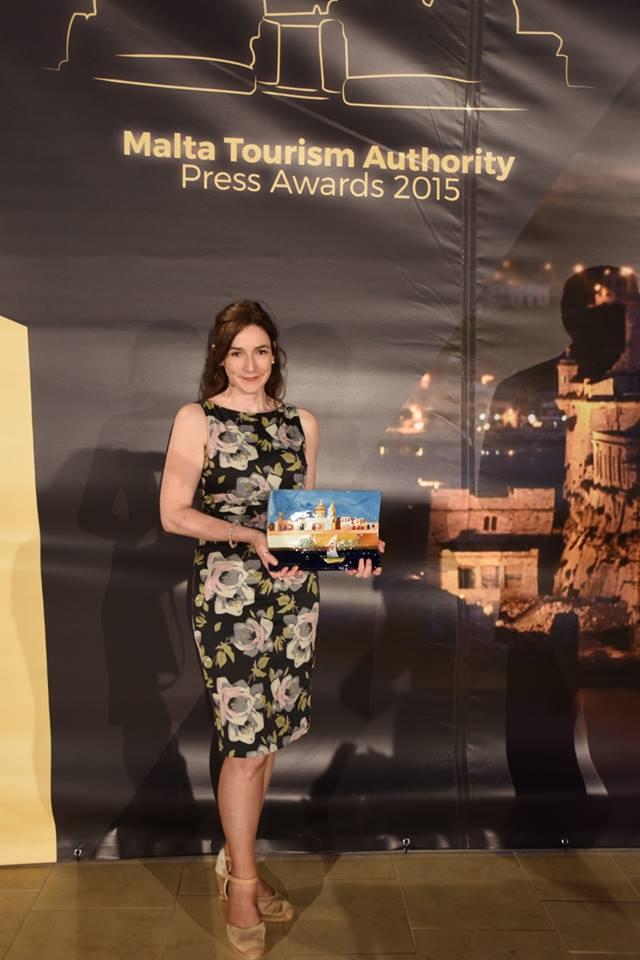 Yvonne Gordon with MTA award, taken 9 June 2016, please credit Catherine McCusker